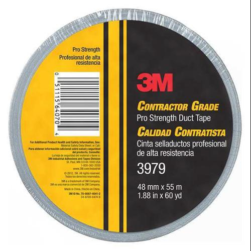 3M 3979 Duct Tape,Gray,60 ydL x 1-57/64inW,8 mil G3317785