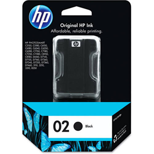 HP 02 Black Original Ink Cartridge (C8721WN)