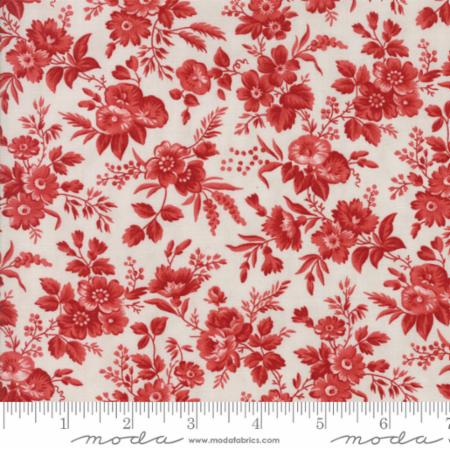 Snowberry Prints~Floral Delicate Sprays~Dark Red Cotton Fabric by Moda
