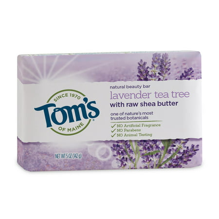 (3 pack) Tom's of Maine Beauty Bar Soaps, Lavender Tea Tree, 5