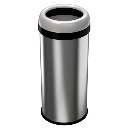 halo dual deodorizer stainless steel 16 gallon trash can. Black Bedroom Furniture Sets. Home Design Ideas