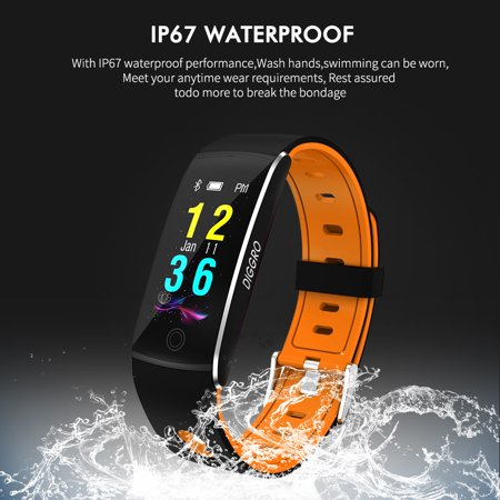 Diggro F10 Fitness Tracker, Activity Tracker Watch with Heart Rate IP67 Waterproof Bluetooth 4.0 Sports Pedometer Sleep Monitor Call/SMS Reminder Sedentary Reminder for Kids Women - Plus Heart Rate Monitor Watch