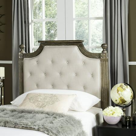 Safavieh Rustic Wood Tufted Upholstered Headboard ()