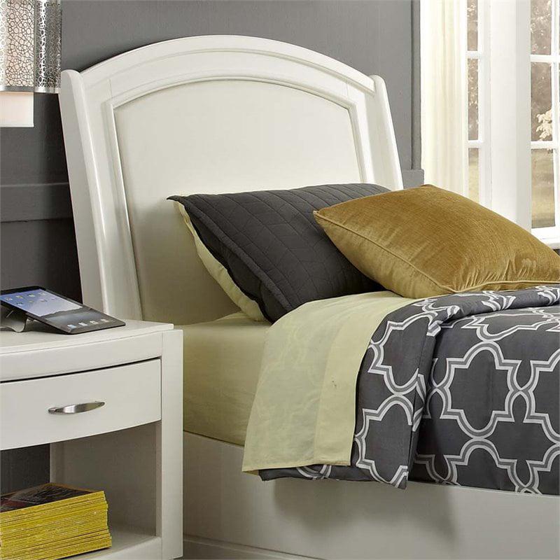 Liberty Furniture Avalon II Twin Faux Leather Headboard in White