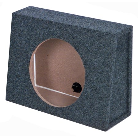 QPower 10 Inch Single Slim Truck Shallow Sealed Subwoofer Box Sub Enclosure - High Performance Subwoofer Enclosure