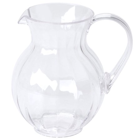 - 90 oz. 8.75 inch Tahiti Pitcher 8.75 inch Tall 2 Boxes of 6 Clear Polycarbonate/Case of 12