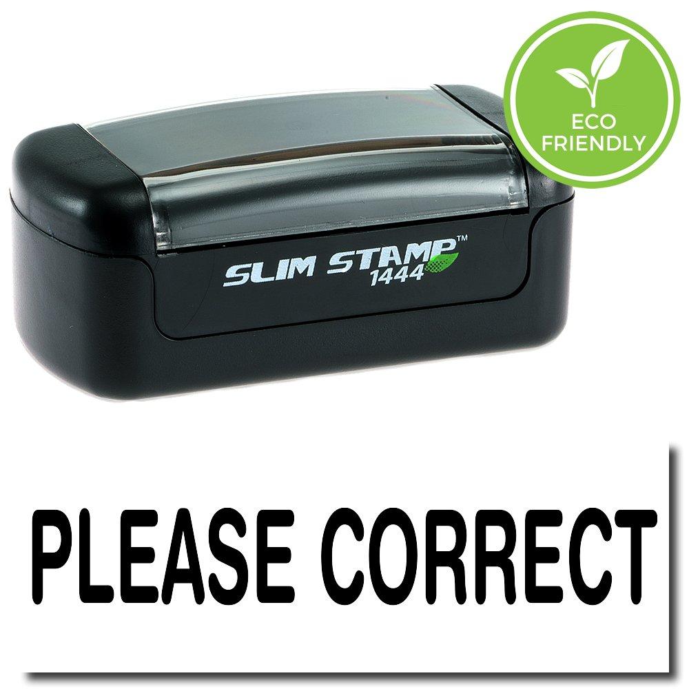 Slim Pre-Inked Please Correct Teacher Stamp with Black Ink