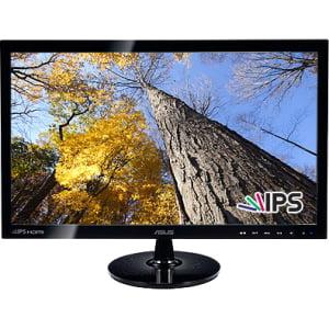 "Asus VS239H-P 23"" LED LCD Monitor - 16:9 - 5 ms - Adjustable Display Angle - 1920 x 1080 - 16.7 Million Colors - 250 Nit - 50,000,000:1 - Full HD - HDMI - VGA - 40 W - Black - ENERGY STAR 5.0, RoHS, W"