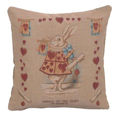 Heart Rabbit Alice In Wonderland I French Cushion - A - H 14 x W 14(Medium) - image 1 de 1