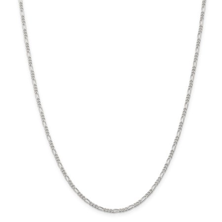ICE CARATS 925 Sterling Silver 2.25mm Link Figaro Necklace Chain Pendant Charm Fine Jewelry Ideal Gifts For Women Gift Set From Heart for $<!---->