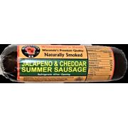 12oz. Jalapeno n Cheddar Hickory Smoked Summer Sausage, 12ct