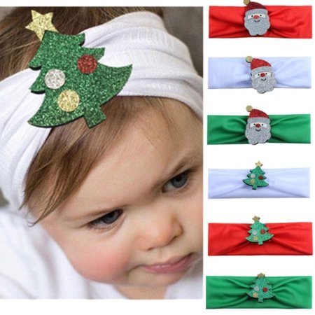 Christmas Headband For Baby Girl.Newborn Kids Baby Girl Toddler Christmas Headband Hair Band Headwear Accessories