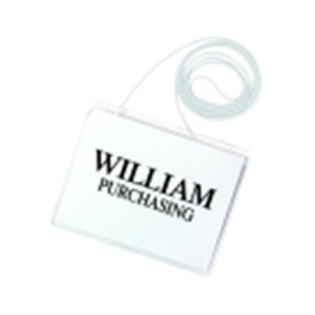 Times Up 4 x 3 in. Hanging Name Badge Kit With Printable ...