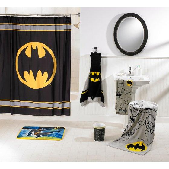 batman kids 5 piece bathroom in a bag set exclusive walmartcom - Batman Bathroom