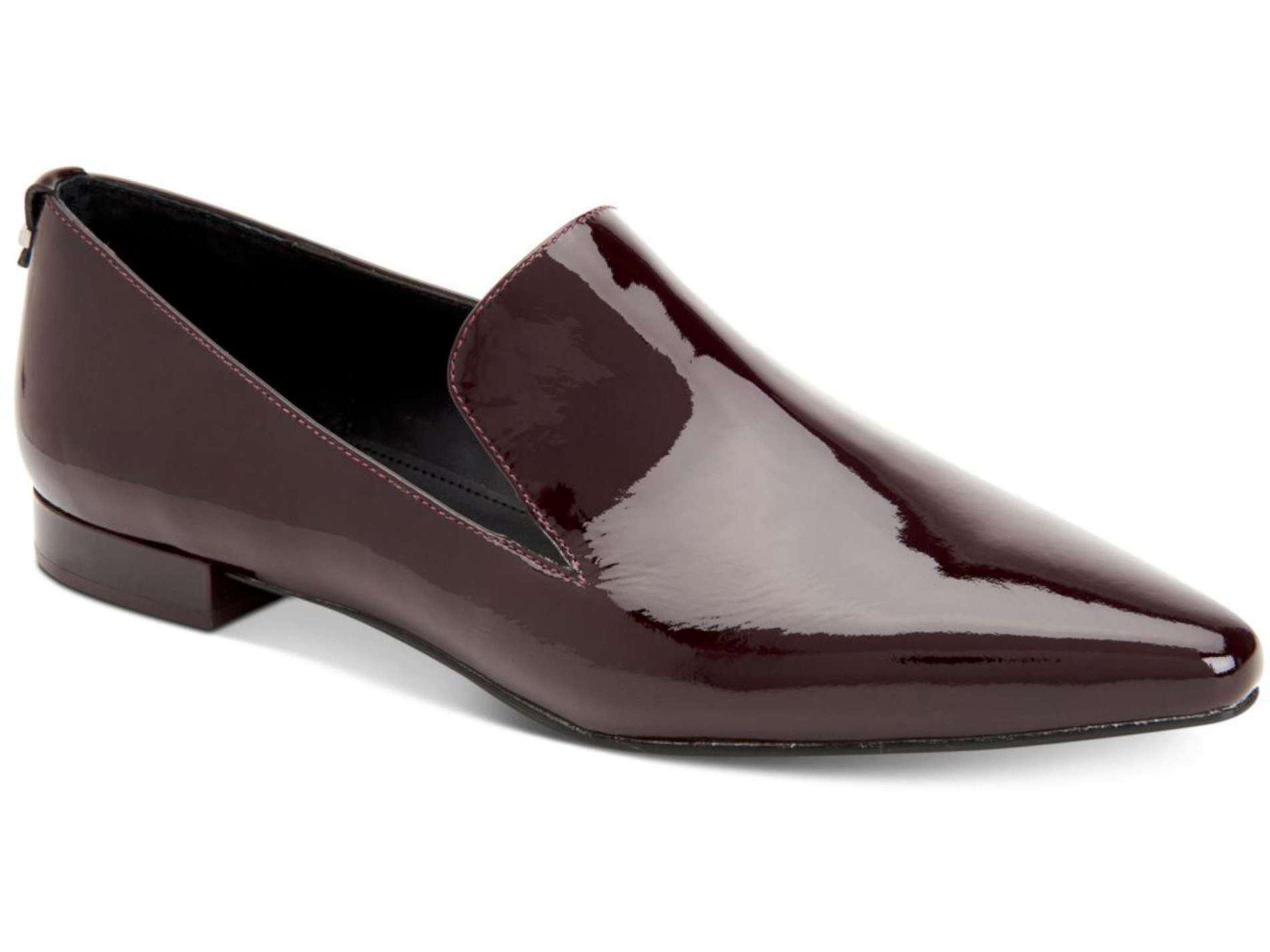 cbfe7a5f020 Calvin Klein Womens Elin Patent Closed Toe Loafers