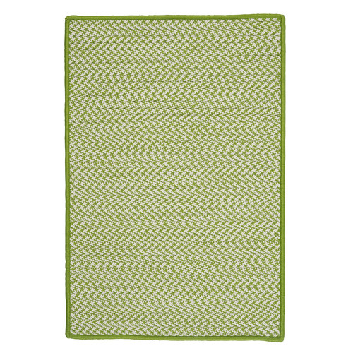 Colonial Mills Outdoor Houndstooth Tweed Lime Area Rug