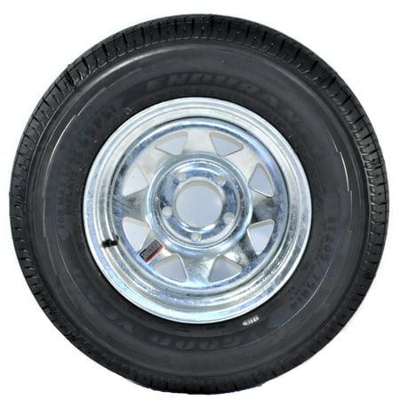 2-Pack Goodyear Endurance Trailer Tire Rim ST205/75R14D 5-4.5 Spoke Galvanized