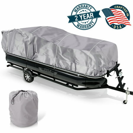 - Armor Shield Trailer Guard Pontoon Boat Cover 17'-20'L Beam Width to 96