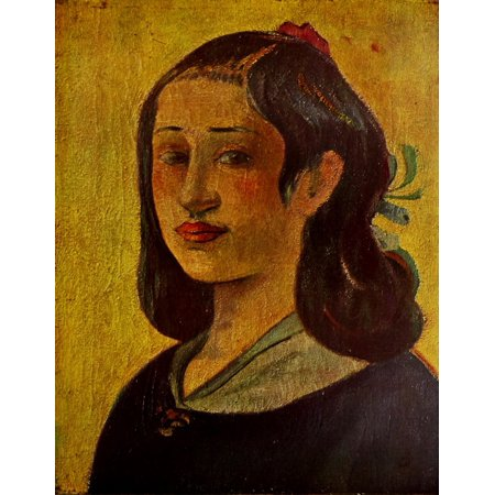 The Artists Mother Canvas Art - P Gauguin (18 x 24)