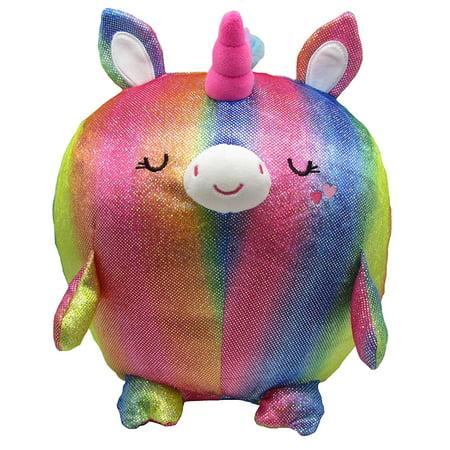 "Cuddle Pal - Round Huggable Sparkler the Unicorn - Stuffed Animal Plush - 11.5"""
