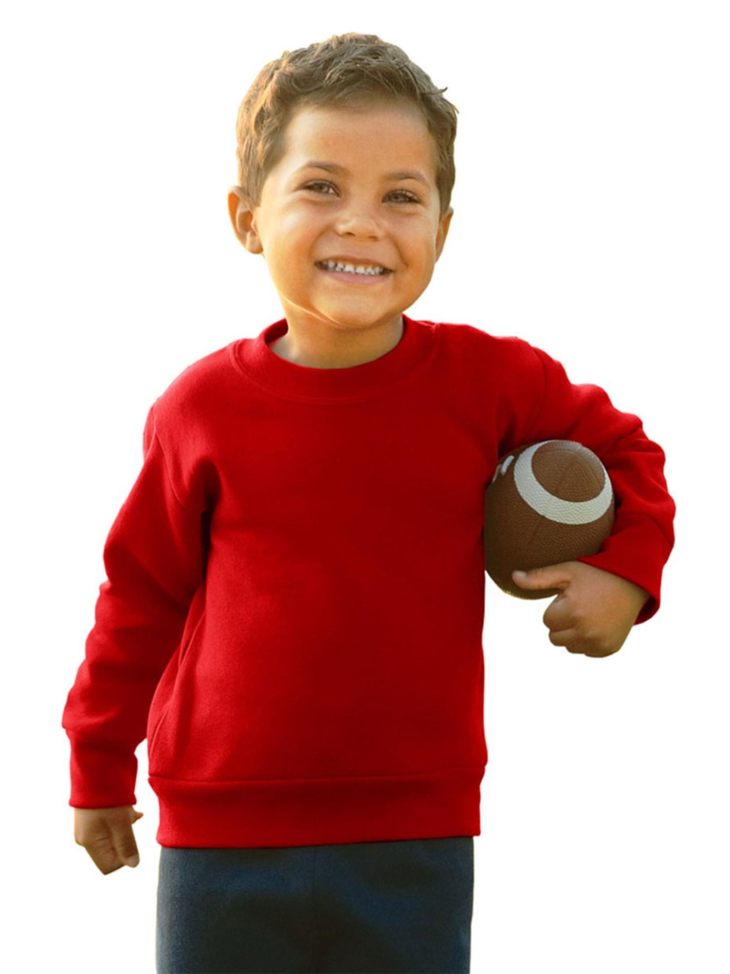 Rabbit Skins Toddler's Crew Neck Fleece Sweatshirt