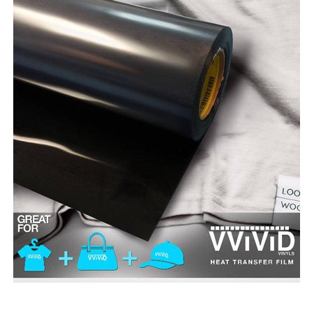 Black Iron On Letter Heat Transfer Paper Vinyl Decal Roll Heavy-Duty HTV Film 12