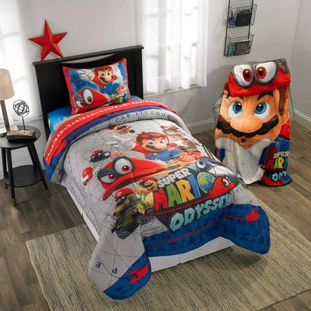 Super Mario Odyssey Caps Off 8-Piece Kids Bedroom, Room in a Bag Set