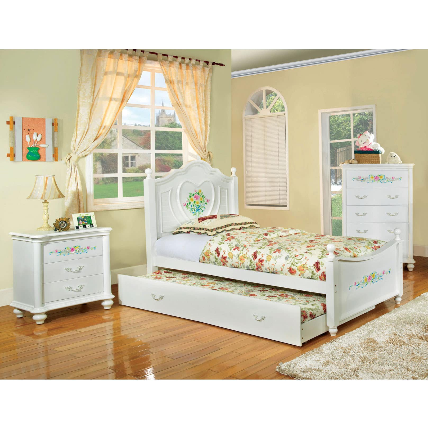 Furniture of America  Rosalina White Platform Bed