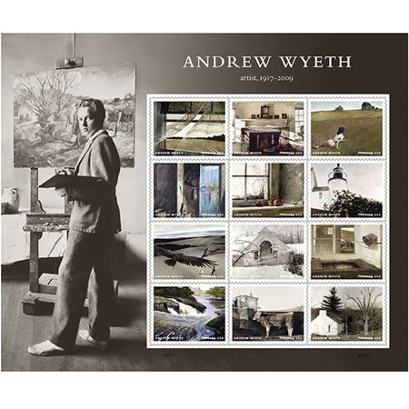 Andrew Wyeth Sheet of 12 Forever USPS First Class Postage Stamps American Artist Paintings