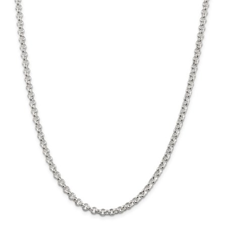 925 Sterling Silver 4.75mm Half Round Rolo Chain Necklace 18 Inch Pendant Charm Fine Jewelry For Women Valentines Day Gifts For Her - image 9 of 9