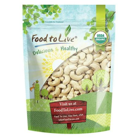 Food To Live Organic Cashews (Whole, Raw) (4 Pounds)