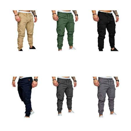 Boyijia Mens Pocket Pants Casual Elastic String Fashion Long Trousers Joggers - image 7 of 8