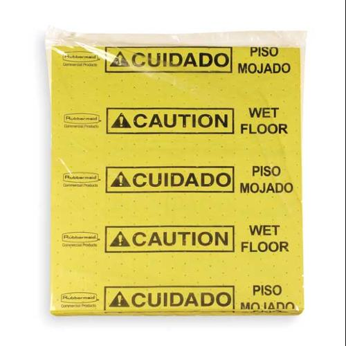 Large Size, Over The Spill Absorbent Pads, Rubbermaid, FG425200YEL