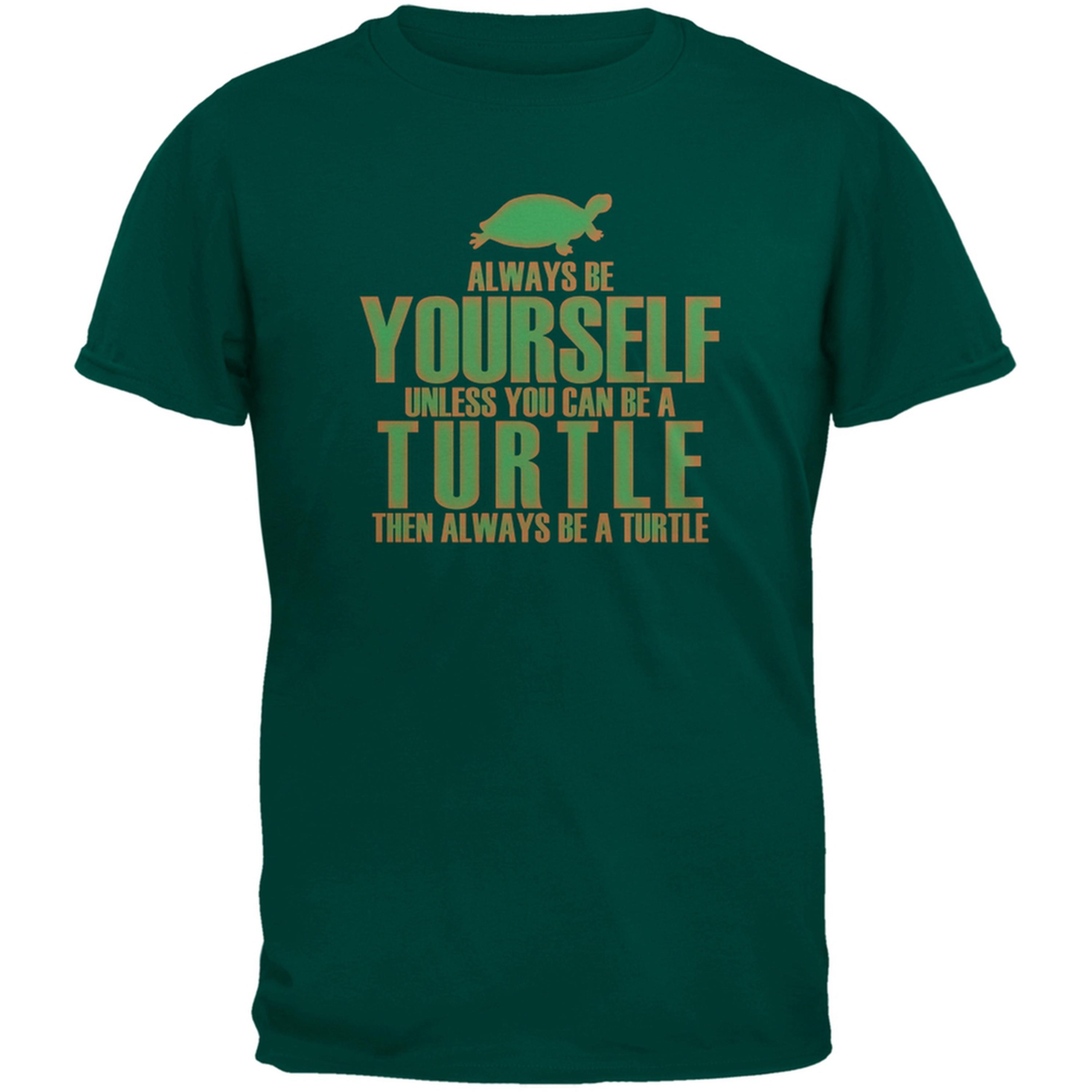 Always Be Yourself Turtle Green Adult T-Shirt