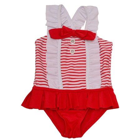 1 Sol Swimwear (Sol Swim Baby Girls' 1-Piece)