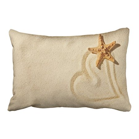 WinHome Decorative Decorative Throw Pillow Case Cushion Cover Ocean Park Beach Theme Starfish Size 20x30 inches Two Side - Ocean Theme Decorations