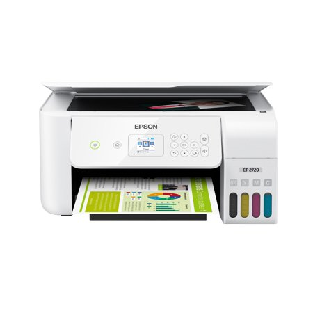 - Epson EcoTank ET-2720 Wireless Color All-in-One Supertank Printer with Scanner and Copier