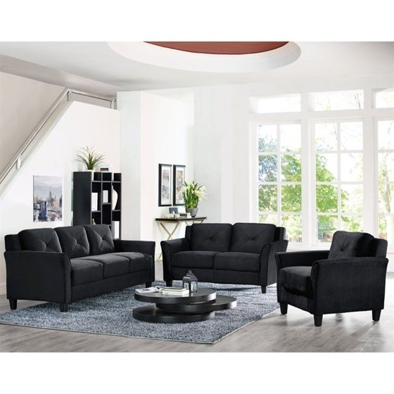 Lifestyle Solutions Hartford 3 Piece Microfiber Sofa Set