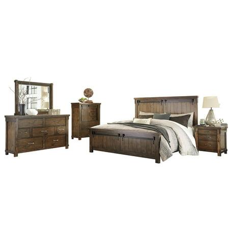 Ashley Furniture Lakeleigh 5 Pc Bedroom Set Queen Panel Bed Dresser