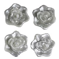 BalsaCircle 4 pcs 2.5-Inch Roses Flowers Floating Candles for Wedding Party Birthday Centerpieces Home Decorations Supplies
