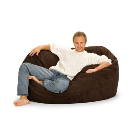 RelaxSacks 5OV-MS002 5 ft. RelaxSack Lounger - Microsuede Chocolate