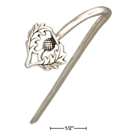 Sterling Silver Scottish Thistle Bookmark - image 1 of 1