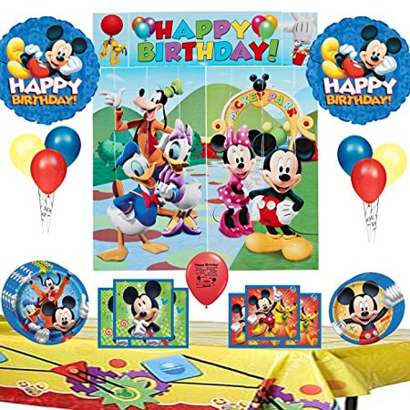 Mickey Mouse Clubhouse Party Supplies and Room Decoration Bundle - Mickey Mouse Party Buckets
