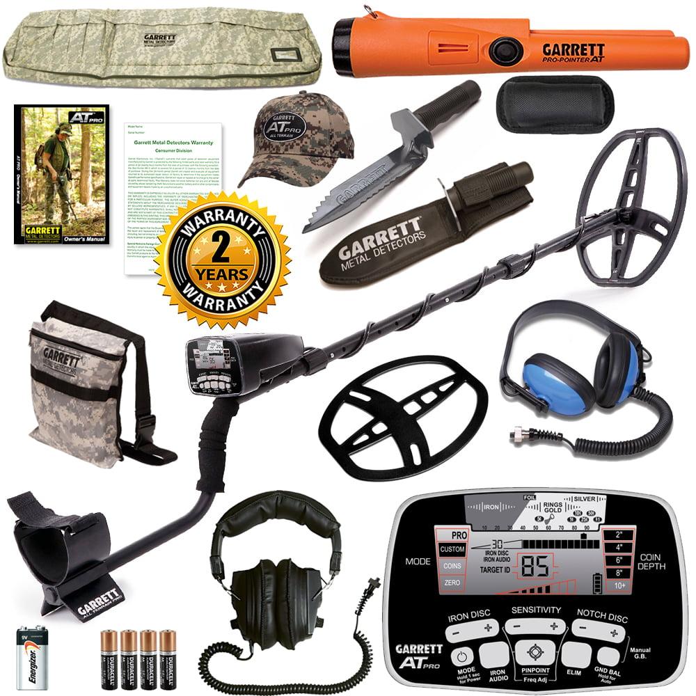 Garrett AT Pro Metal Detector w  AT PinPointer & Waterproof HeadphoneS by