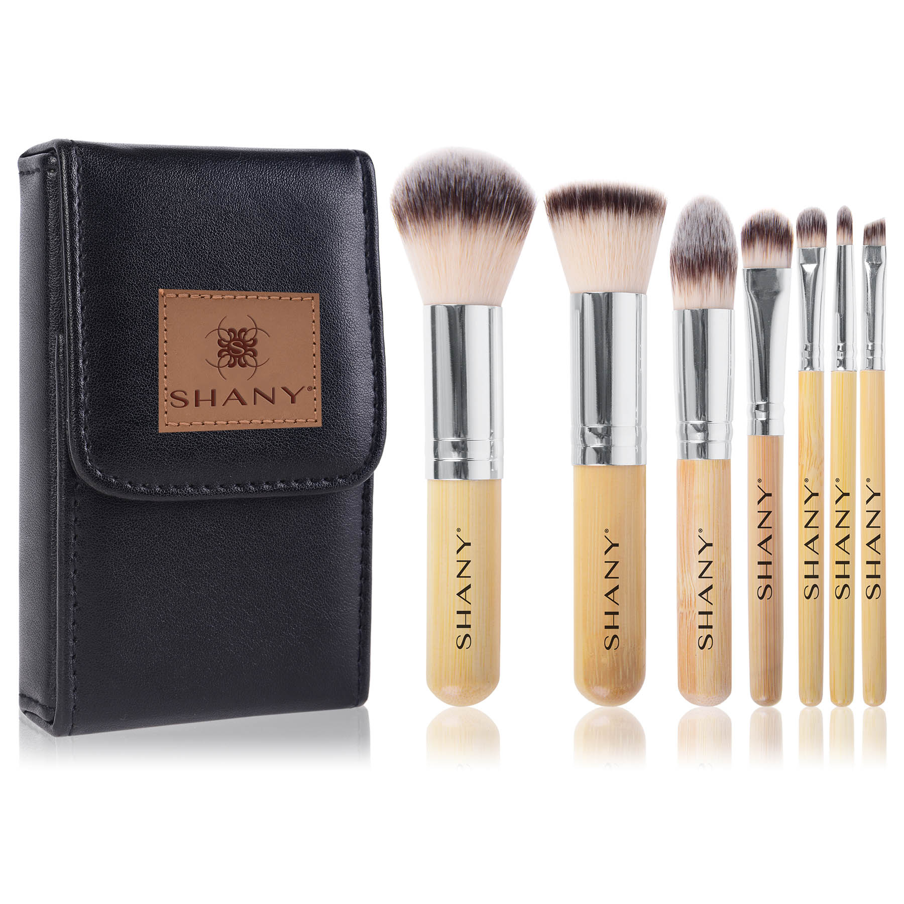 SHANY I love Bamboo - 7pc Petite Pro Bamboo brush set with Carrying Case