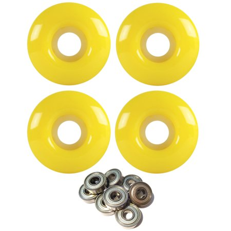 Skateboard Wheels 97A 51mm Neon Yellow with ABEC 7 BEARINGS