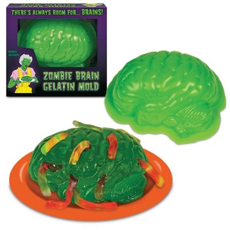 Zombie Brain Life Size Gelatin Jello Mold, There's Always Room For...Brains, By Archie McPhee](Halloween Jello Brain)