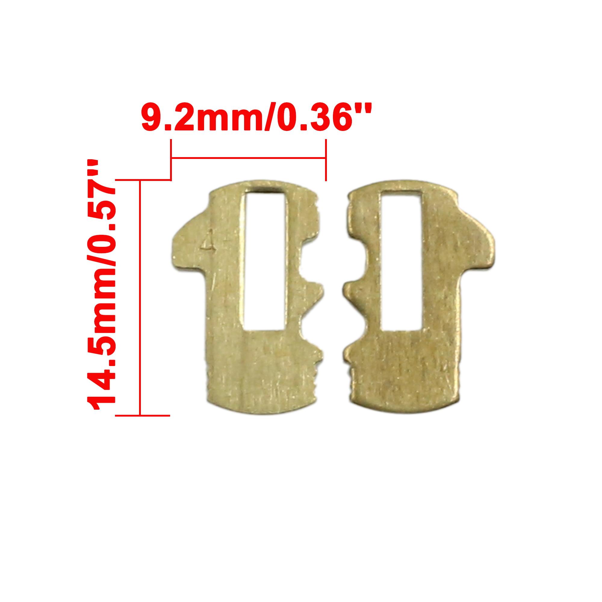 30pcs Gold Tone Metal Car Lock Reed Vehicle Locking Plate Gasket 14.5 x 9.2mm for Buick - image 1 of 2