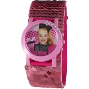 JoJo Siwa Sequin Strap Flashing Dial Watch (Pink)