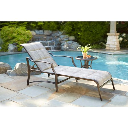 Hampton Bay Fls70310 Statesville Padded Patio Chaise Lounge